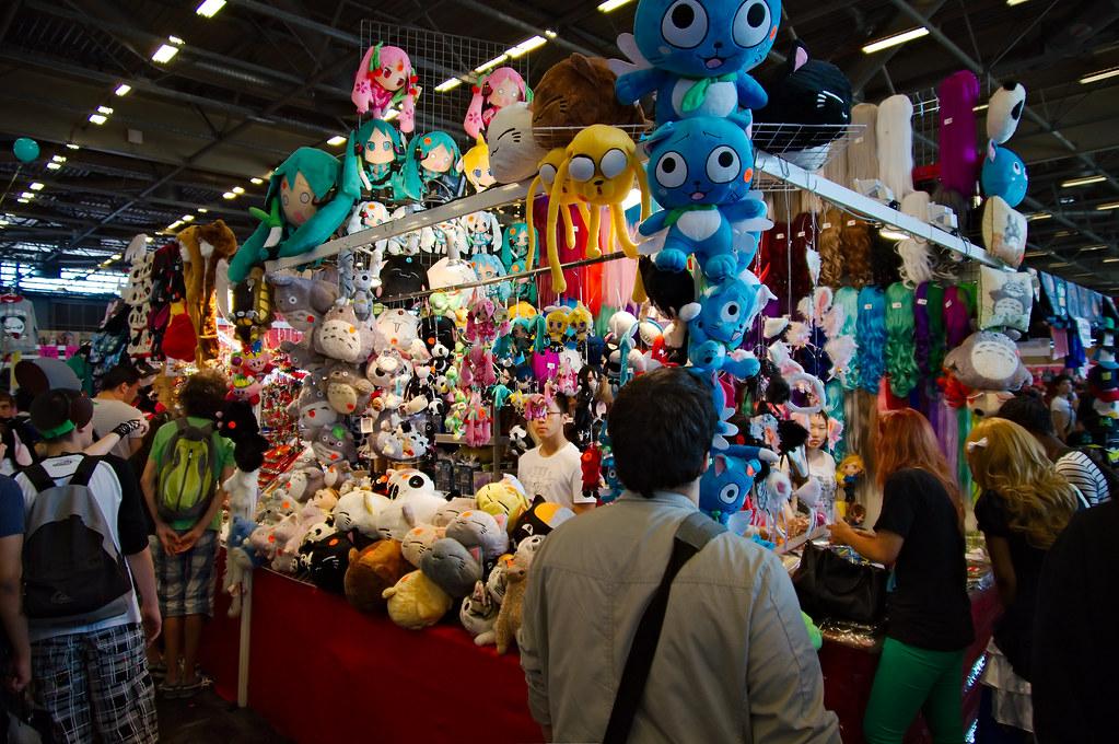 Stand de peluches à Japan Expo 2013