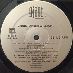 CHRISTOPHER WILLIAMS:I'M DREAMIN'(LABEL SIDE-A)