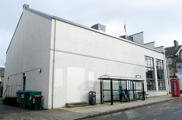 The Birks Cinema, Aberfeldy, side view from rear