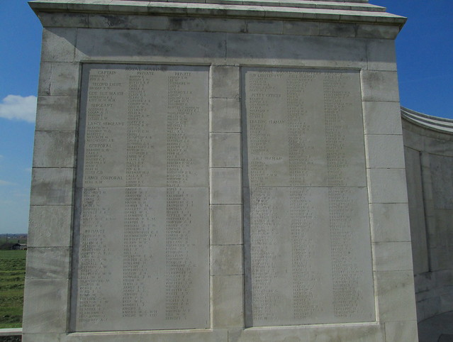 Tyne Cot Cemetery West End of Memorial Wall