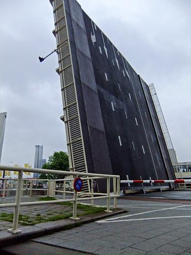 A drawbridge in Rotterdam, Holland