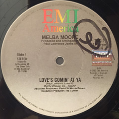 MELBA MOORE:LOVE'S COMIN' AT YA(LABEL SIDE-A)