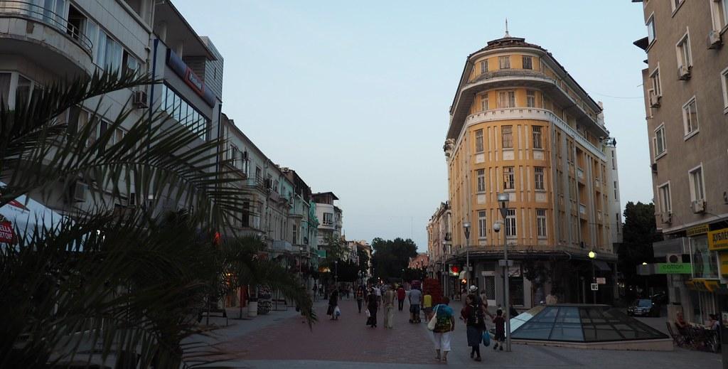 Varna city centre - coastal city in Bulgaria