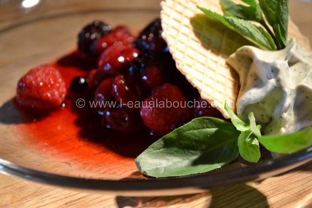 Fruits Rouges & Jus avec Crème de Basilic Menthe © Ana Luthi Tous droits réservés 15