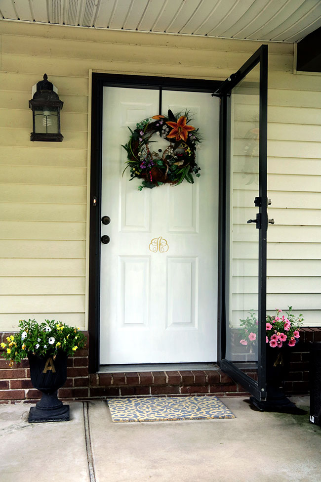 Front Porch Makeover Door Amp Bench Touch Up Curb Appeal