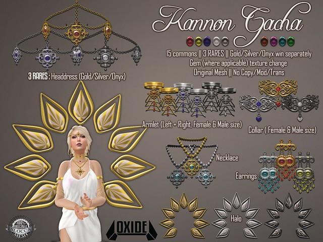 OXIDE Kannon Set - Gami Gacha, 3rd June