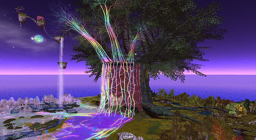 Linden Tree DJ Stage at SL13B