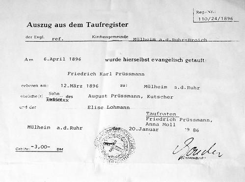 Papa's Birth certificate