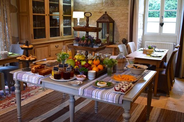 Breakfast Spread at Manoir de Malagorse | www.rachelphipps.com @rachelphipps