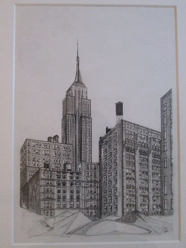 Empire State Building, Ink and pencil on paper. M.Carmen Voces, 2014