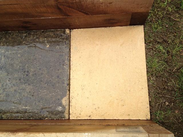 Garden path: The slabs were a bit dirty