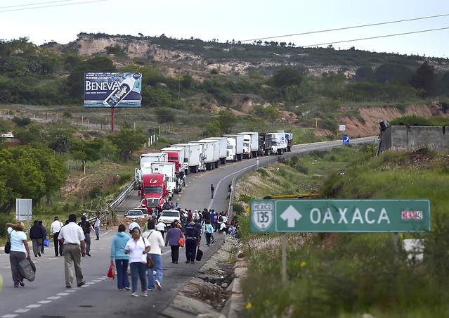 Las protestas en Oaxaca