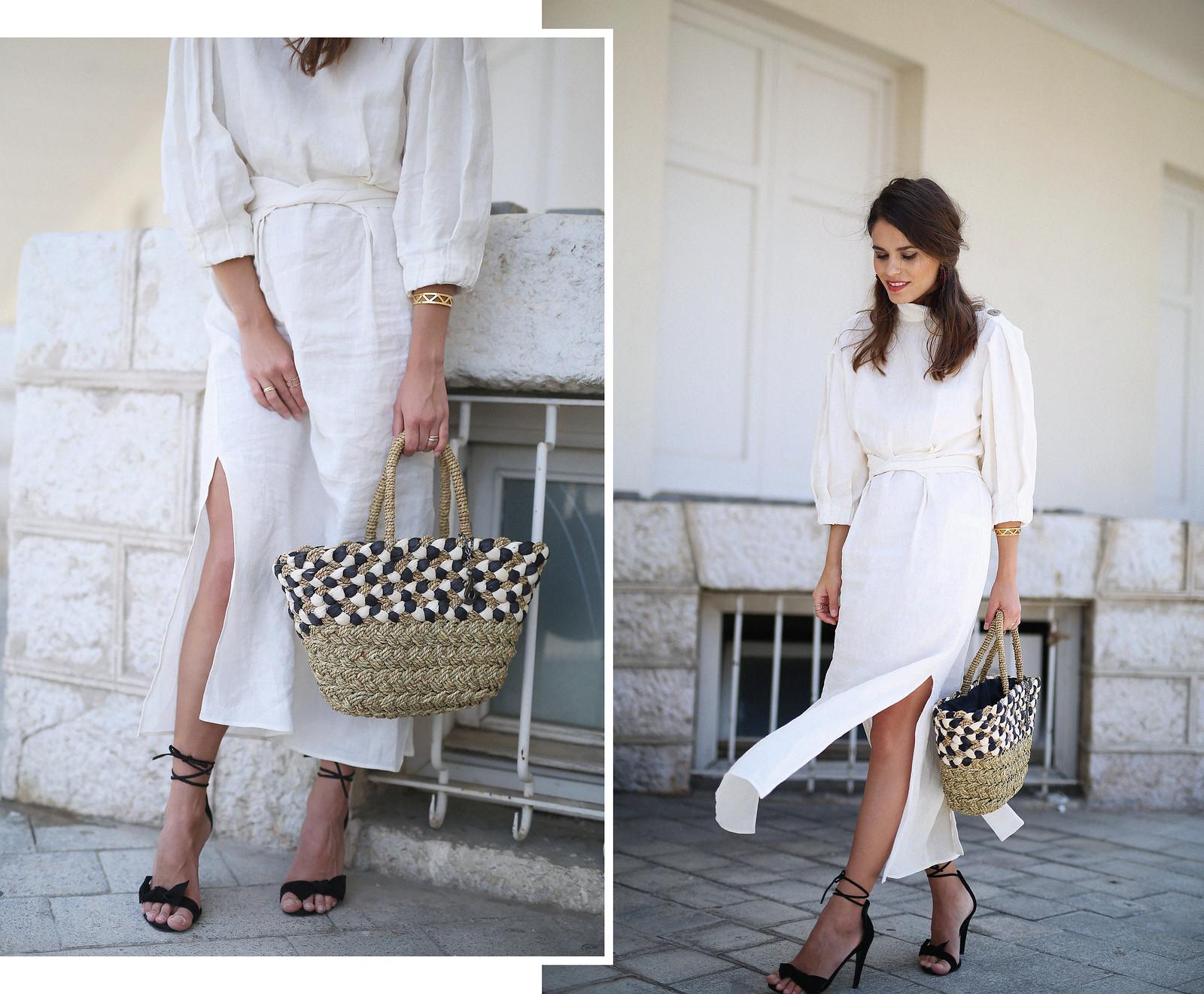 jessie chanes seams for a desire zara vestido lino capazo rafia-1