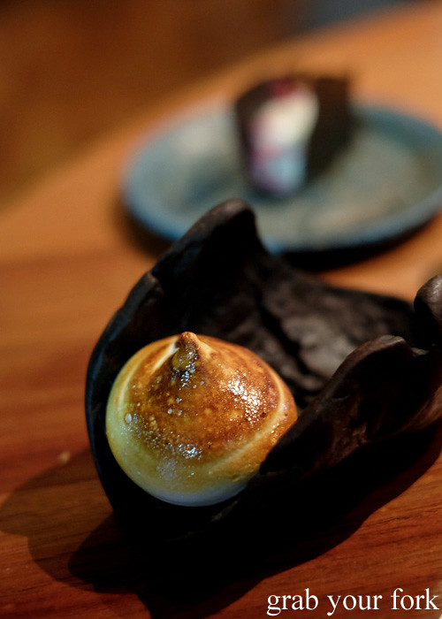 Feral coffee cherry marshmallow at Restaurant Orana, Adelaide