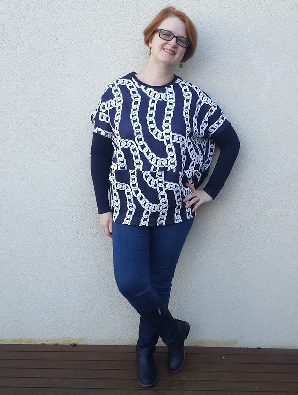 Style Arc Sunny top in knit remnant from Darn Cheap Fabrics