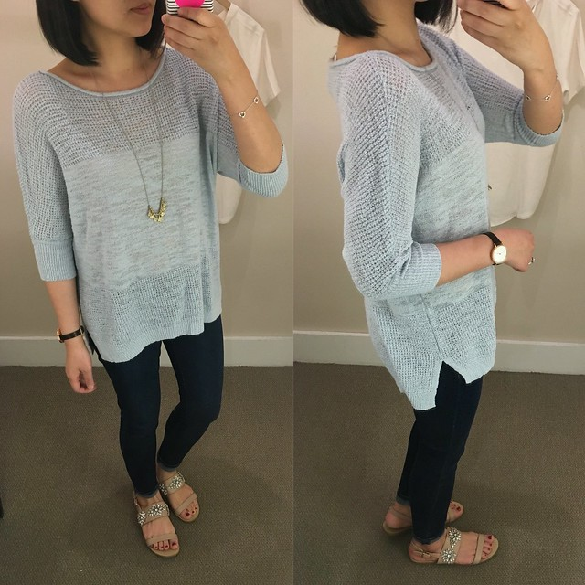 Lou & Grey Meshstitch Sweater, size XS regular