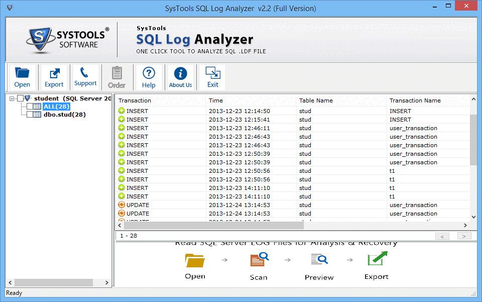 SQL Server Log Analyzer Tool