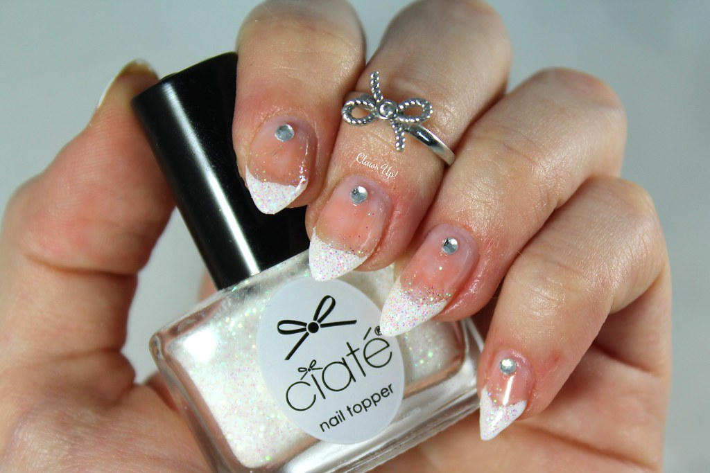 Glitter French manicure using Ciate Chalet Chic from the 2015 Mini Mani Month