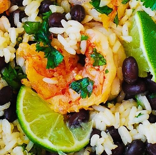 Cilantro-Lime Black Bean Shrimp and Rice