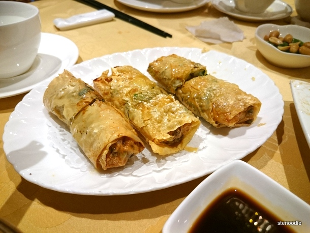 Fried Bean Curd Roll Stuffed with Shrimp & Chives