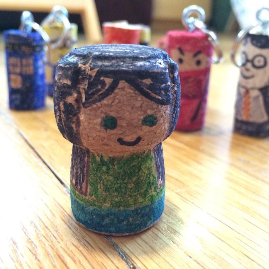 Can't stop making these #corkkeychain people! #recycledcraft #recycledart
