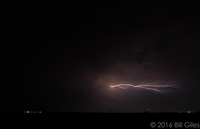 Lightning near Byars, CO