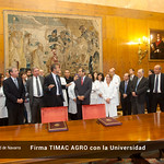 Firma de la catedra TIMAC AGRO Universidad de Navarra
