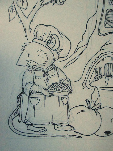 Hedgefairy: Brambly Hedge Tribute - Detail: Piemaker