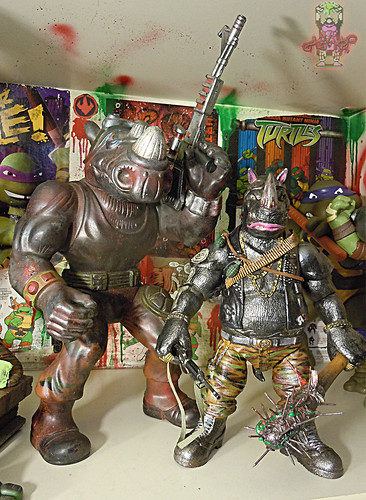 "tOkKustom :: NEW CLASSIC 'FOOT' Trio :: BEBOP ix / ..with TMNT 'GIANT BAD BOYS' 13"" ROCKSTEADY 1990"