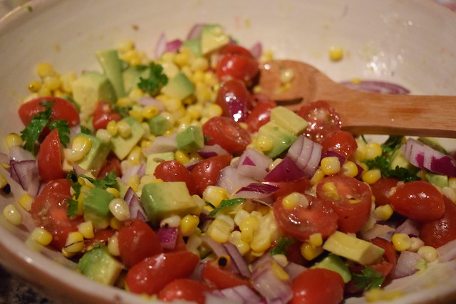 Mahi Mahi with Avocado Corn Salsa