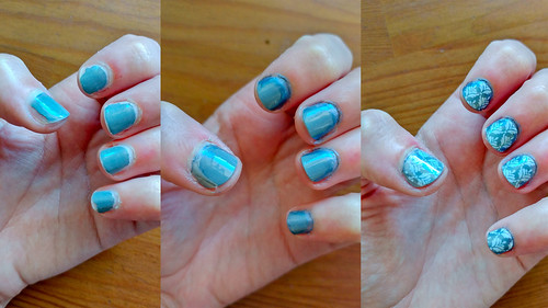 Jamberry Damask Over an Old Manicure