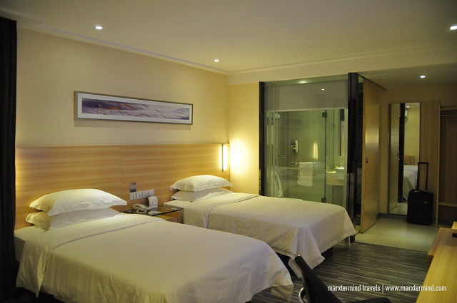 Our Deluxe Twin Room at City Comfort Hotel