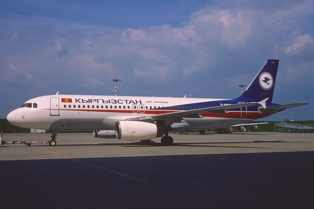 Kyrgyzstan Airlines Airbus A320-231; D-AWWW, April 1998