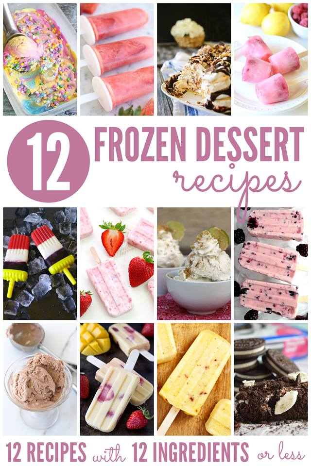 12 frozen desserts collage.