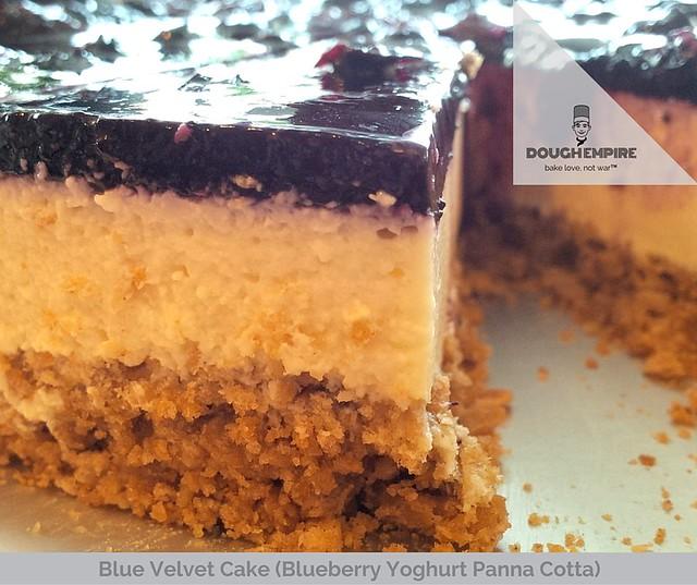 Blue Velvet Cake (Blueberry Yoghurt Panna Cotta)