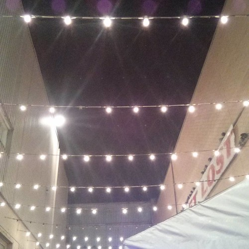 The lights aglow #toronto #honesteds #thealley #fringe2016 #fringeto