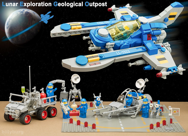 LEGO Classic Space: Lunar Exploration Geological Outpost