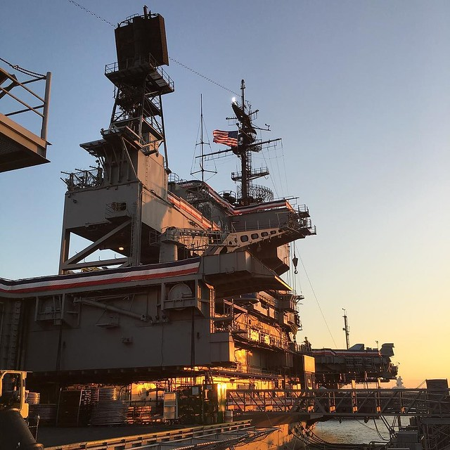 Went to a map party on the USS Midway last night and had a quick tour. Definitely not as claustrophobia-inducing an the Russian submarine we toured last year.