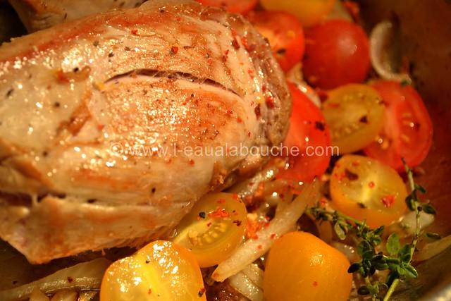 Filet Mignon aux Thym, Oignons & Tomates Cerise © Ana Luthi Tous droits réservés 03