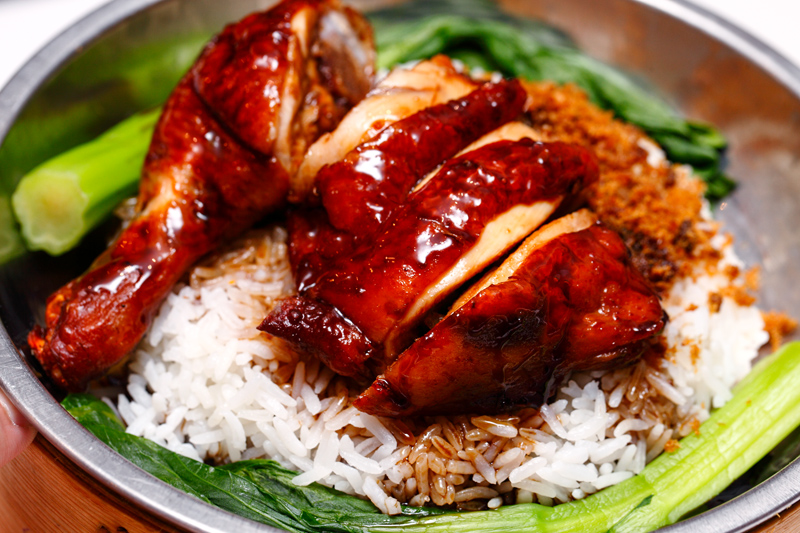 Braised Chicken Drumstick with Fragrant Onion Dried Shrimp Rice