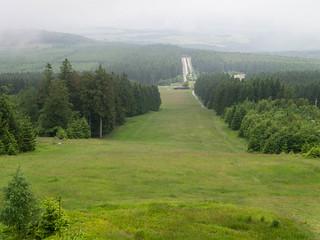 Ausblick von der Windklangskluptur auf dem Erbeskopf