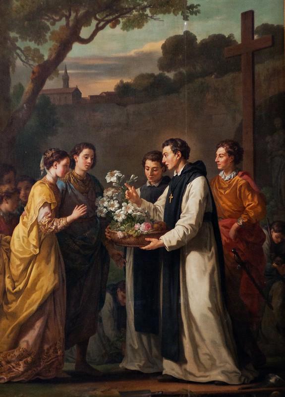 Joseph-Marie Vien - Saint Thibaut offrant à Saint Louis et Marguerite de Provence un lys à onze branches