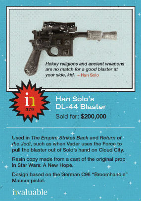 han solo star wars blaster invaluable