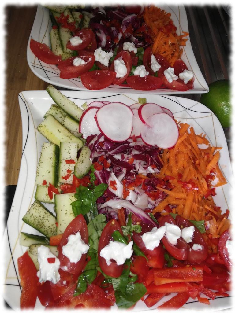 Salattherapie (optscih hünsch angerichtetes Farbenspiel)
