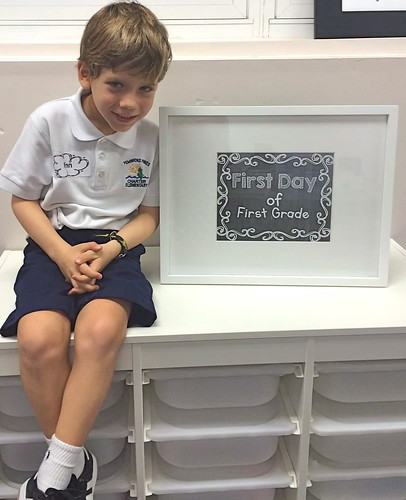 Finn on the first day of first grade!