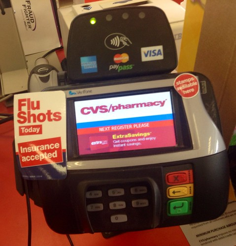 cvs pharmacy drugstore credit card scanner