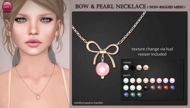 Bow & Pearl Necklace