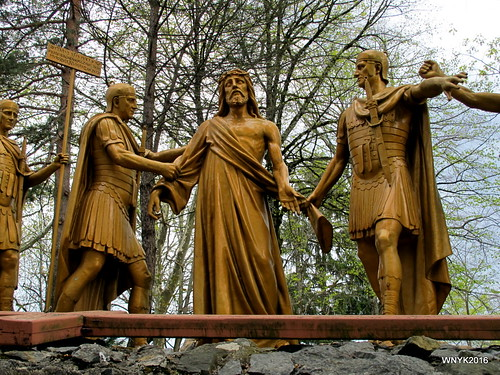 The 10th Station: Crucifixion: Jesus is nailed to the cross