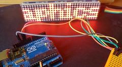 Arduino Uno met Dot Matrix Module