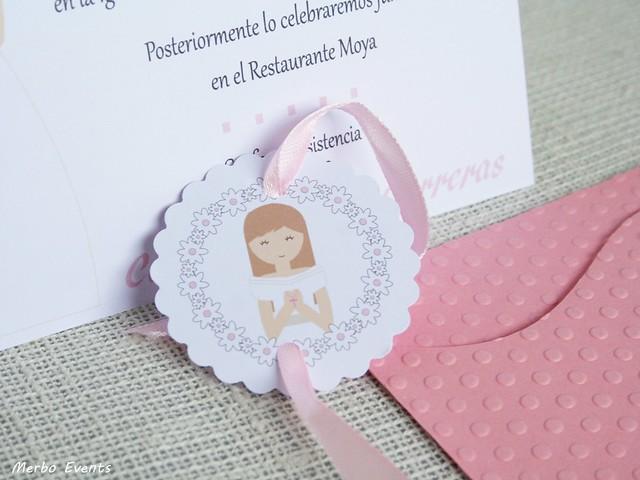 tarjetas comunion niña modelo venecia Merbo Events